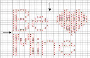 Example of a counted cross stitch chart
