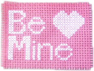 Example of a counted cross stitch finished design