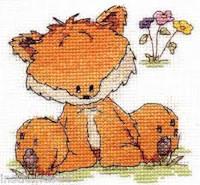 DMC Woodland Folk Cross Stitch Kit - Toby Fox (14 Count)