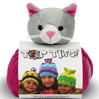 DMC - Top This! Hat Knitting Kit - Kitten
