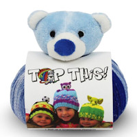 DMC - Top This! Hat Knitting Kit - Teddy Bear
