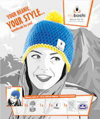 DMC - myboshi Crochet Beanie Hat Kit - Blue/Yellow