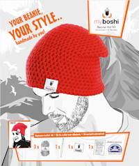 DMC - myboshi Crochet Beanie Hat Kit - Red