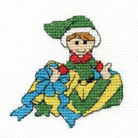 DMC Christmas Characters Cross Stitch Mini Kit - Elf (14 Count)