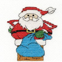 DMC Christmas Characters Cross Stitch Mini Kit - Santa (14 Count)