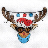 DMC Christmas Characters Cross Stitch Mini Kit - Rudolph (14 Count)