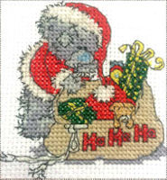 DMC Me to You Tatty Teddy Cross Stitch Mini Kit - Santa Bear (14 Count)