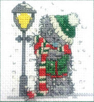 DMC Me to You Tatty Teddy Cross Stitch Mini Kit - Singing Carols (14 Count)