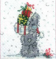 DMC Me to You Tatty Teddy Cross Stitch Mini Kit - Presents for Me (14 Count)