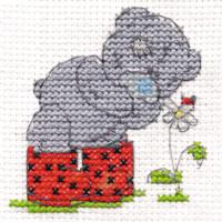DMC Me to You Tatty Teddy Cross Stitch Mini Kit - Springtime (14 Count)