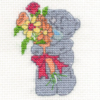 DMC Me to You Tatty Teddy Cross Stitch Mini Kit - Just For You (14 Count)