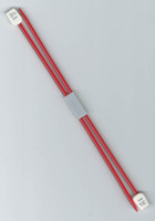 Essentials - Children's 3.25mm Red Plastic Knitting Pins - 18cm Length - UK Size 10 (One Pair)