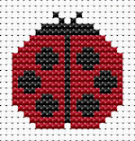 Fat Cat Cross Stitch - Easy Peasy - Ladybird