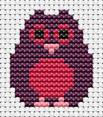 Fat Cat Cross Stitch - Easy Peasy - Owl