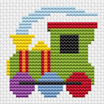 Fat Cat Cross Stitch - Sew Simple - Train