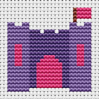 Fat Cat Cross Stitch - Easy Peasy - Castle