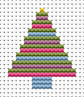 Fat Cat Cross Stitch - Easy Peasy - Christmas Tree
