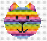 Fat Cat Cross Stitch - Sew Simple - Cat Head
