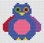 Fat Cat Cross Stitch - Sew Simple - Owl