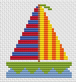 Fat Cat Cross Stitch - Sew Simple - Yacht