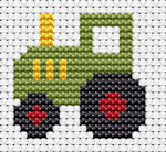 Fat Cat Cross Stitch - Easy Peasy - Tractor