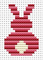 Fat Cat Cross Stitch - Easy Peasy - Pink Bunny