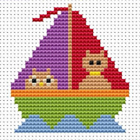 Fat Cat Cross Stitch - Sew Simple - Owl and Pussy Cat