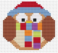 Fat Cat Cross Stitch - Sew Simple - Winter Owl