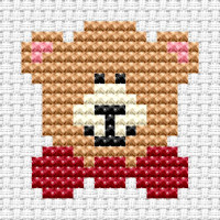 Fat Cat Cross Stitch - Easy Peasy - Teddy