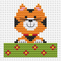 Fat Cat Cross Stitch - Sew Simple - Cat