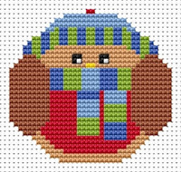 Fat Cat Cross Stitch - Sew Simple - Robin