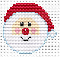 Fat Cat Cross Stitch - Sew Simple - Santa