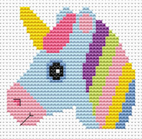 Fat Cat Cross Stitch - Sew Simple - Unicorn