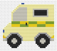 Fat Cat Cross Stitch - Sew Simple - Ambulance