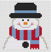 Fat Cat Cross Stitch - Sew Simple - Frosty II