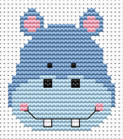 Fat Cat Cross Stitch - Sew Simple - Hippo