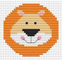 Fat Cat Cross Stitch - Sew Simple - Lion