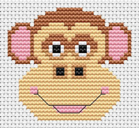 Fat Cat Cross Stitch - Sew Simple - Monkey