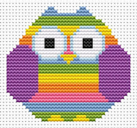 Fat Cat Cross Stitch - Sew Simple - Striped Owl