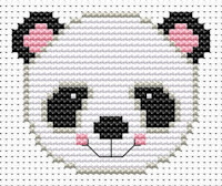 Fat Cat Cross Stitch - Sew Simple - Panda