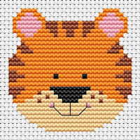 Fat Cat Cross Stitch - Sew Simple - Tiger