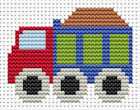 Fat Cat Cross Stitch - Sew Simple - Truck