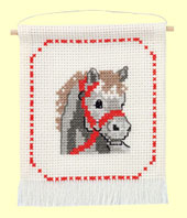 Permin - My First Kit - Cross Stitch - Grey Horse's Head