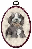 Permin - My First Cross Stitch (Framed) Kit - Dog