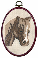 Permin - My First Cross Stitch (Framed) Kit - Brown Horse