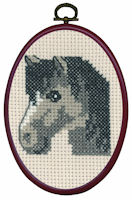 Permin - My First Cross Stitch (Framed) Kit - Grey Horse