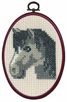 Permin - My First Cross Stitch (Framed) Kit - Grey Horse