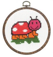Permin - My First Cross Stitch (Framed) Kit - Ladybird