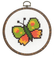 Permin - My First Cross Stitch (Framed) Kit - Butterfly
