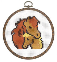 Permin - My First Cross Stitch (Framed) Kit - Horses